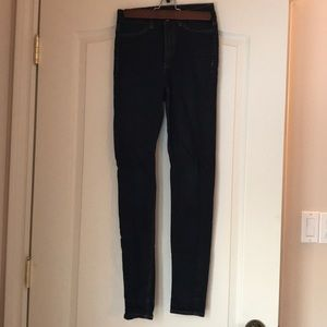 Dark wash skinny jeans from H&M